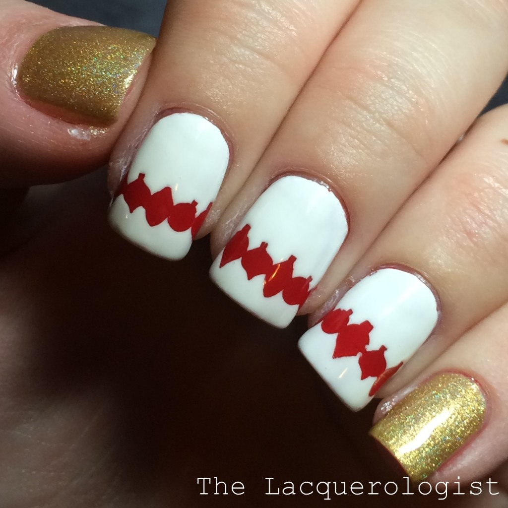 Christmas Ornament Nail Art featuring KBShimmer Winter/Holiday Vinyl ...
