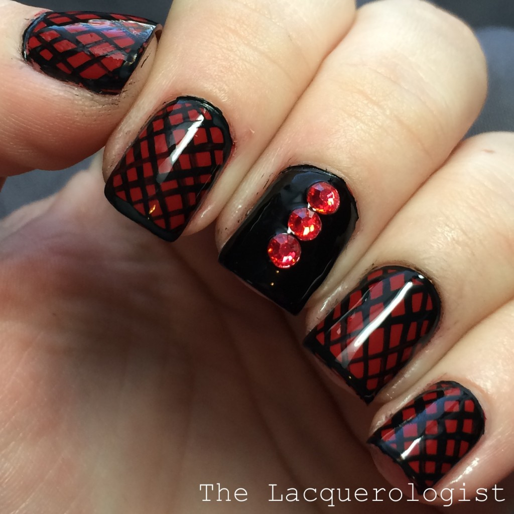 Valentine S Day Nails Art: Valentine's Day: Sexy Red & Black Nail Art • Casual Contrast