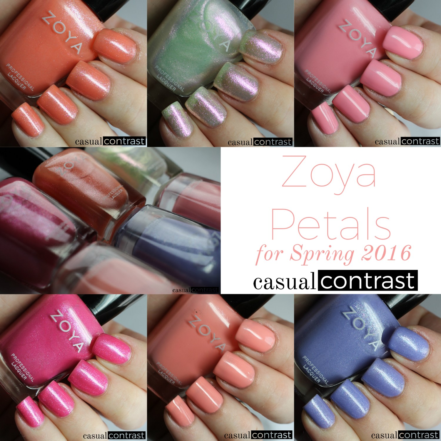 Image of collage of Zoya Petals Collection