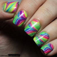 Pipe Dream Polish Rainbow Watermarble 2b
