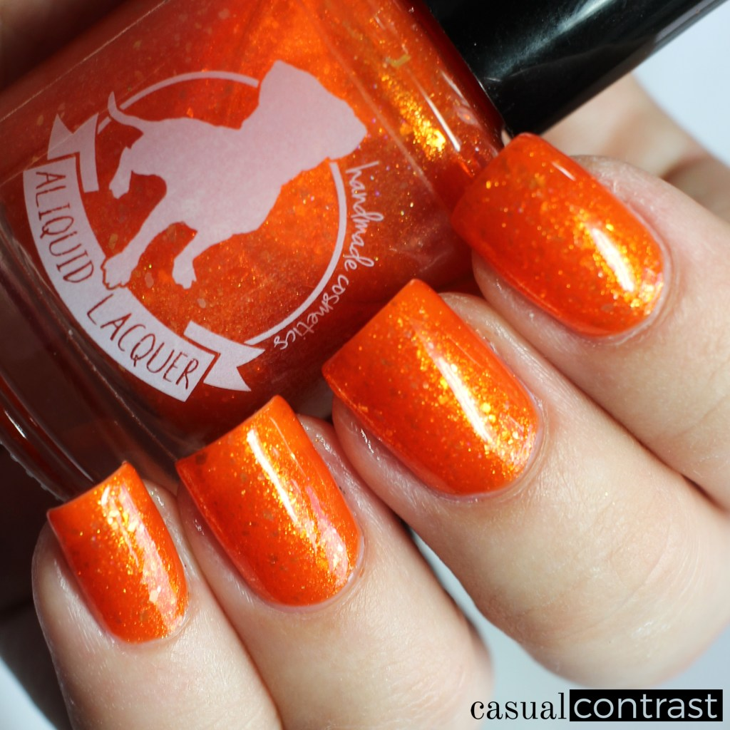 ALIQUID Oriole from the ALIQUID Nail Polish Is For The Birds Collection • Casual Contrast