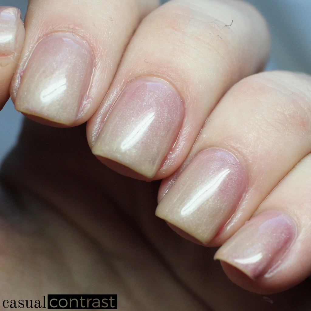 LeChat Cherry Blossom, warm state - LeChat Perfect Match Mood Color Changing Gel Polish: Swatches & Review • Casual Contrast