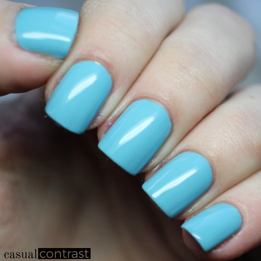 Sally Hansen Miracle Gel Aqua Chakra from the Festival Floral Collection: Swatches & Review • Casual Contrast