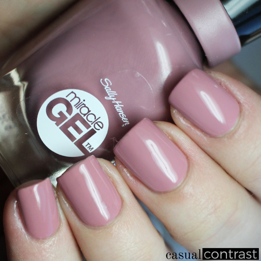 Sally Hansen Miracle Gel Make Me Mauve from the Festival Floral Collection: Swatches & Review • Casual Contrast
