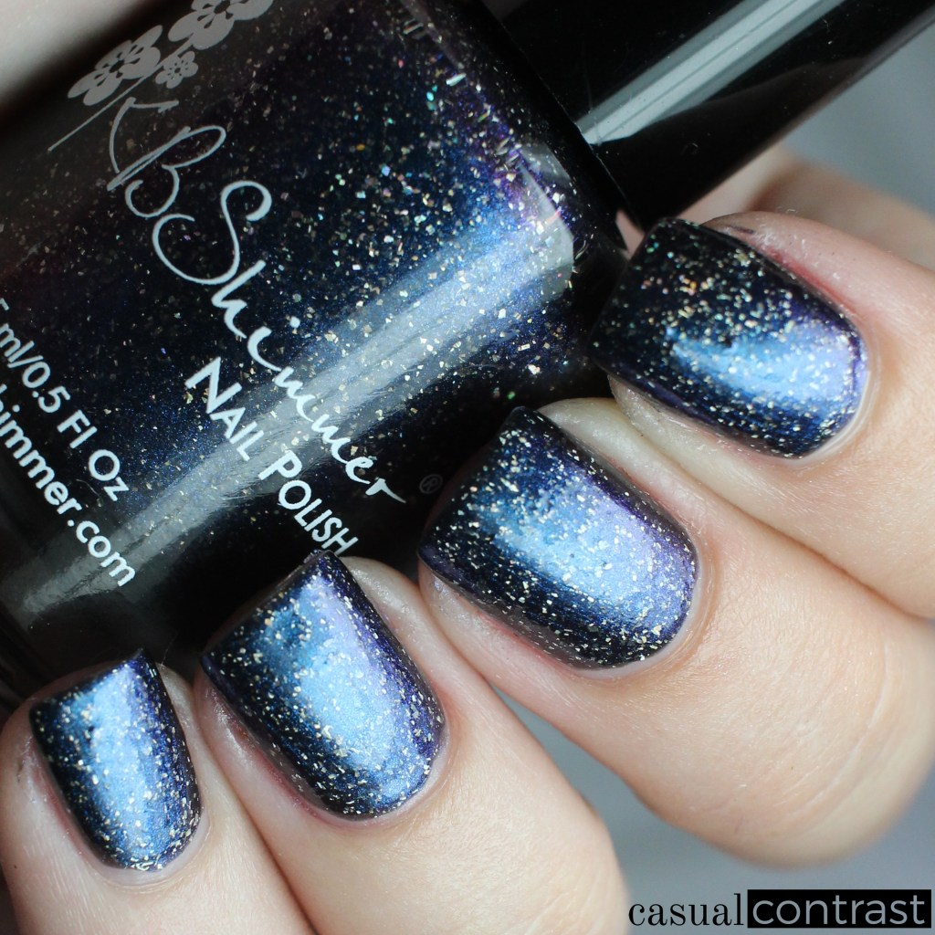 KBShimmer I'm Onyx from the KBShimmer Summer Vacation Collection • Casual Contrast