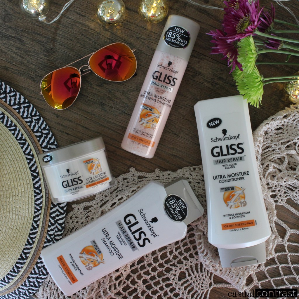 Heal Your Summertime Locks with Gliss by Schwarzkopf Ultra Moisture! • Casual Contrast