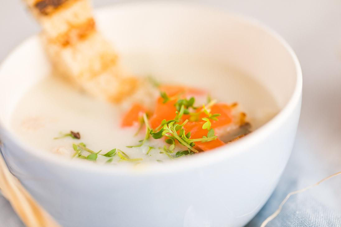 Spargelcremesuppe Spargel Suppe Lachs Kresse casual cooking österreichischer food blog