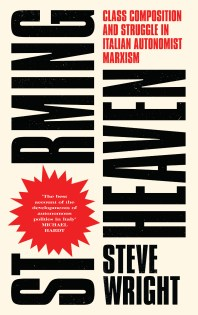 Storming Heaven by Steve Wright; design by David A. Gee (Pluto Press / July 2017)