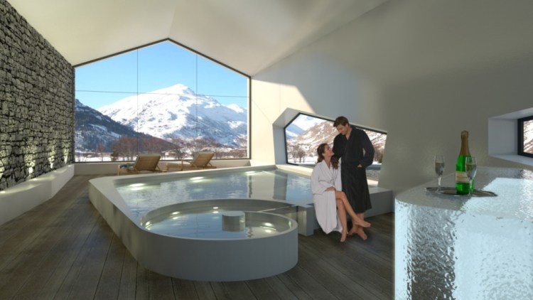 Andermatt Swiss Alps Couple in Chalet