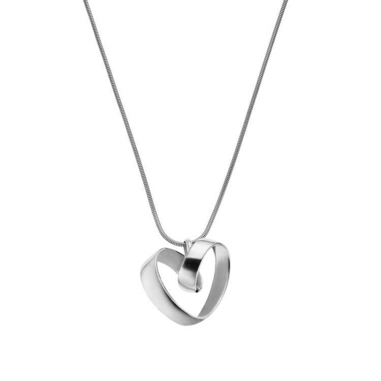 Katrine Silver-Tone Heart Pendant Necklace