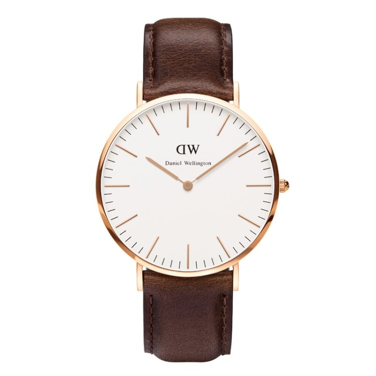 Daniel Wellington Classic Cardiff Rosè Gold Men´s 40mm Round Case