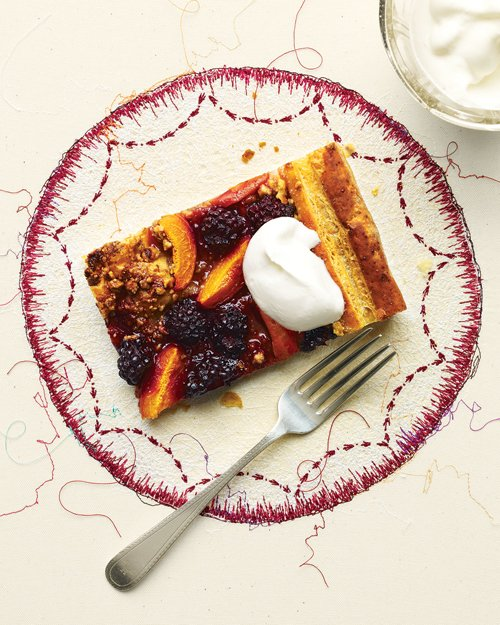 Apricot Blackberry Puff Tart