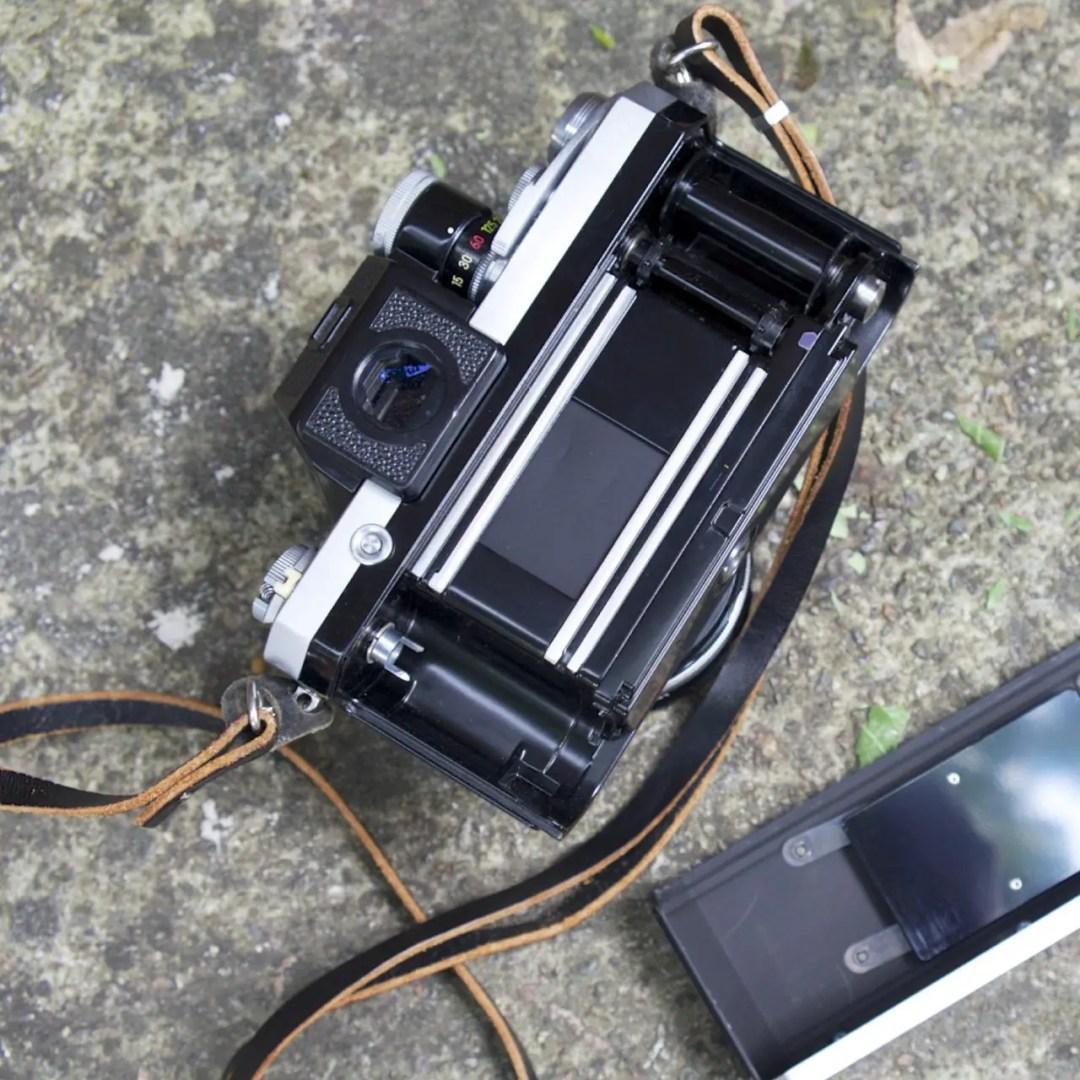 Titanium shutter Nikon F