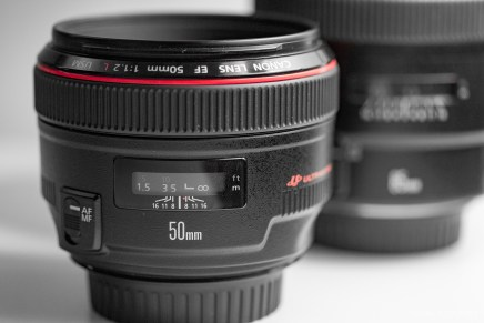 Canon 50mm 85mm f-1.2 lens product shots-4