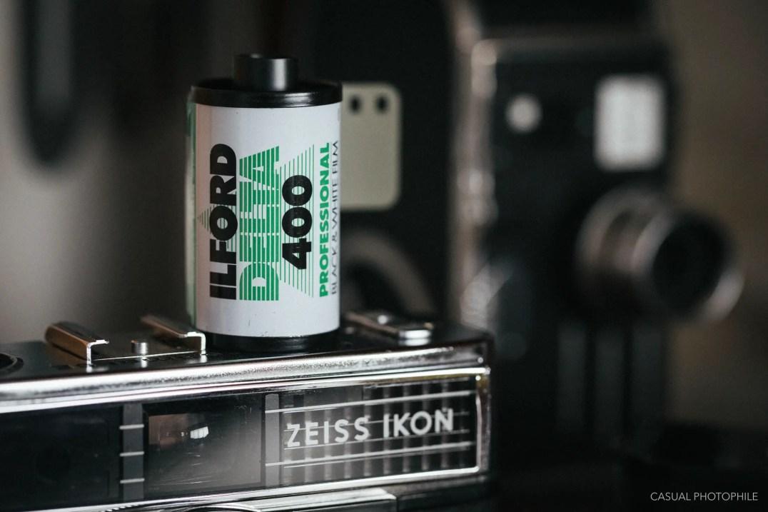 ilford delta 400 product photos DVL-1