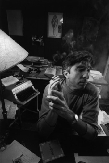 The American author John Updike in his study at his home in Ipswich, Mass. USA. Ara Güler / Magnum Photos