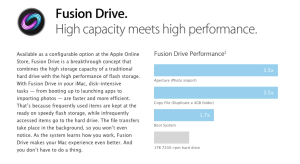 Présentation de Fusion Drive sur le site Web d'Apple.