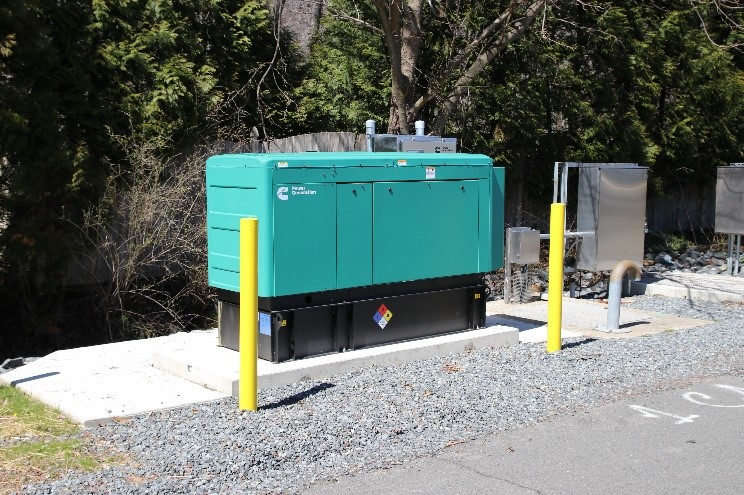 New generator installed at Pump Station 2 in Buckingham Township