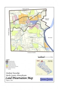 Map showing the land preservation strategy for Durham Townships 2006 Comprehensive Plan
