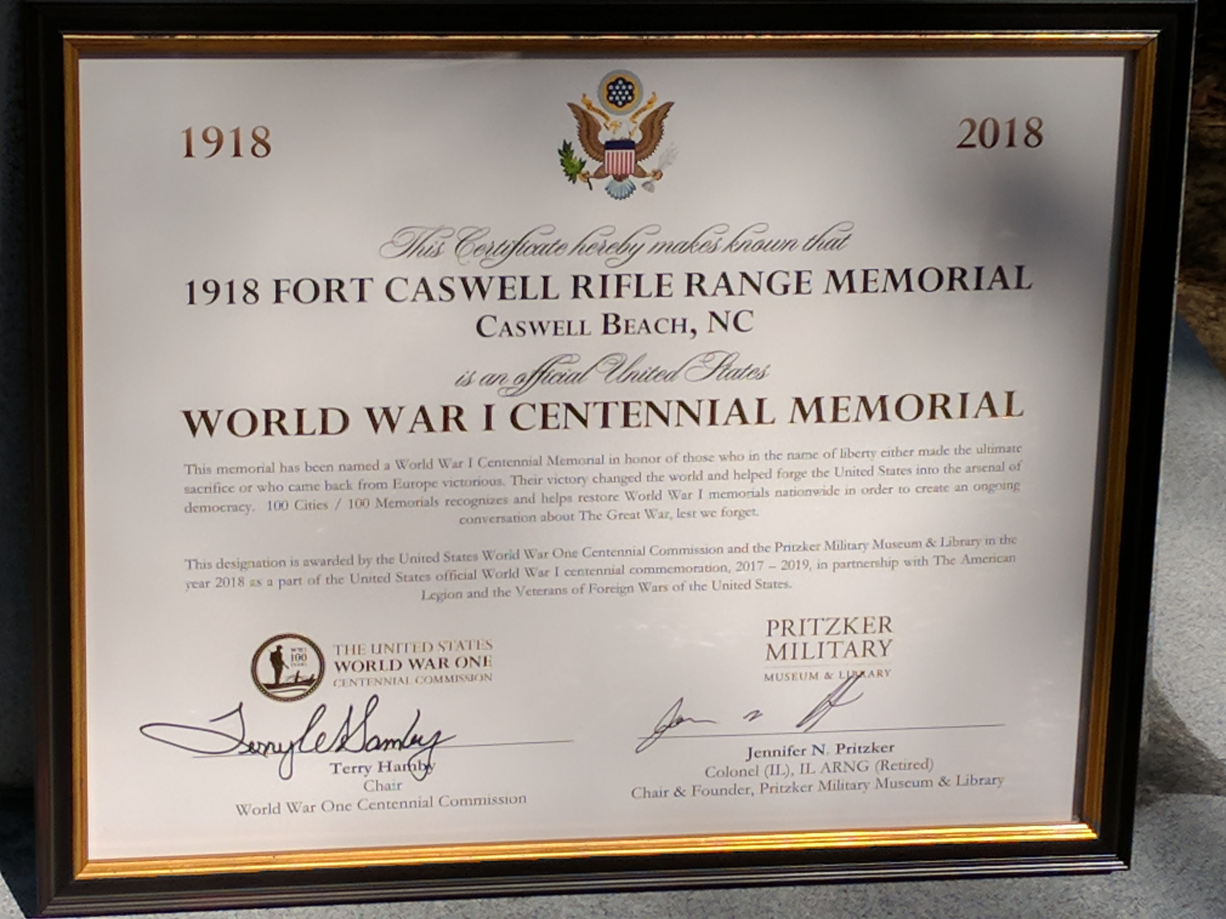 Veterans Presidential Memorial Certificate Frame Topsimages