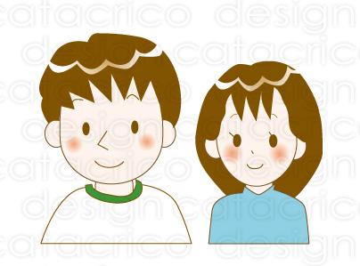 イラストサンプル(若い夫婦)