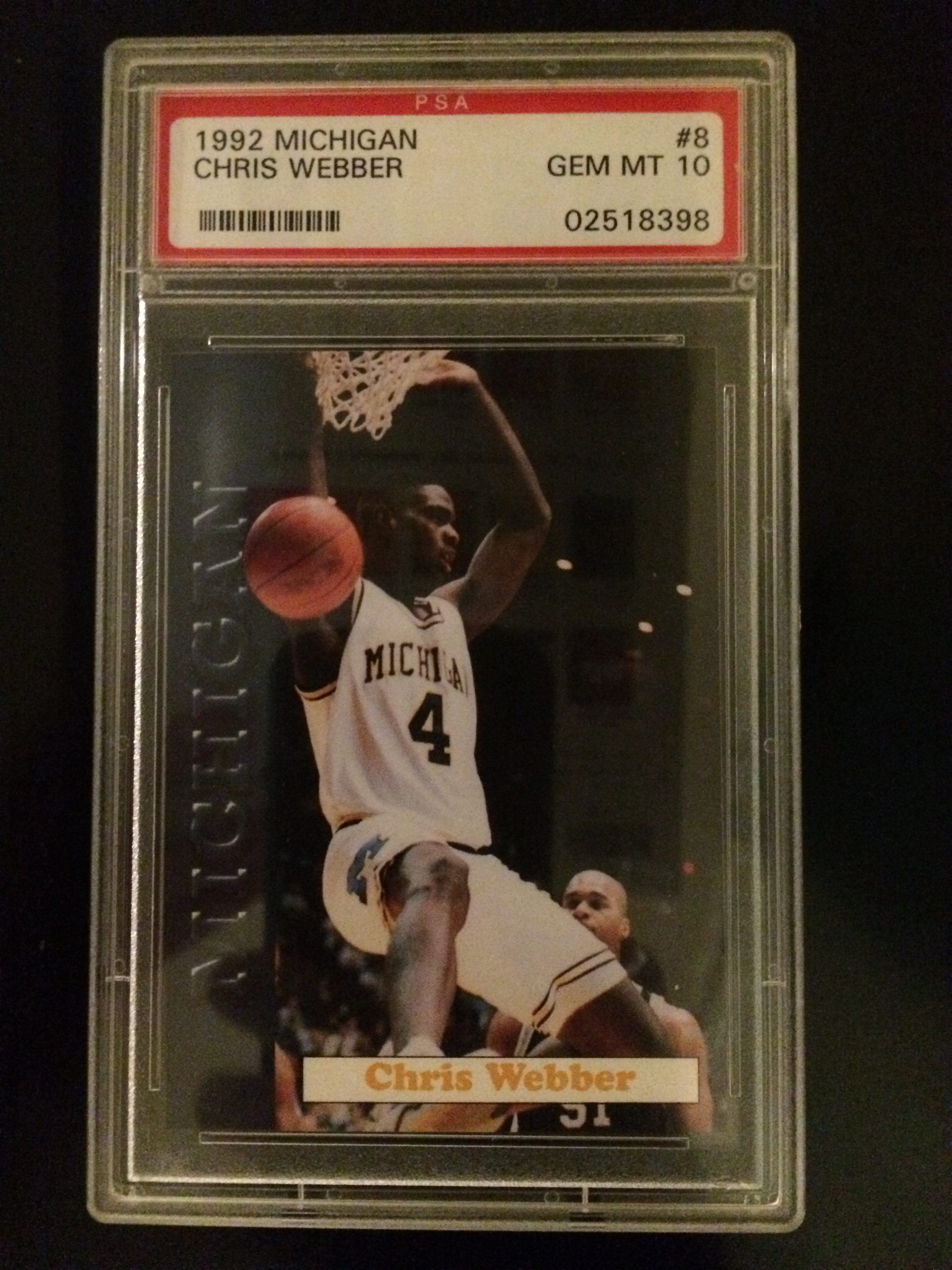 huge discount b698f 60319 College – 1992-93 Michigan #8 Chris Webber – Cataloged Clutter