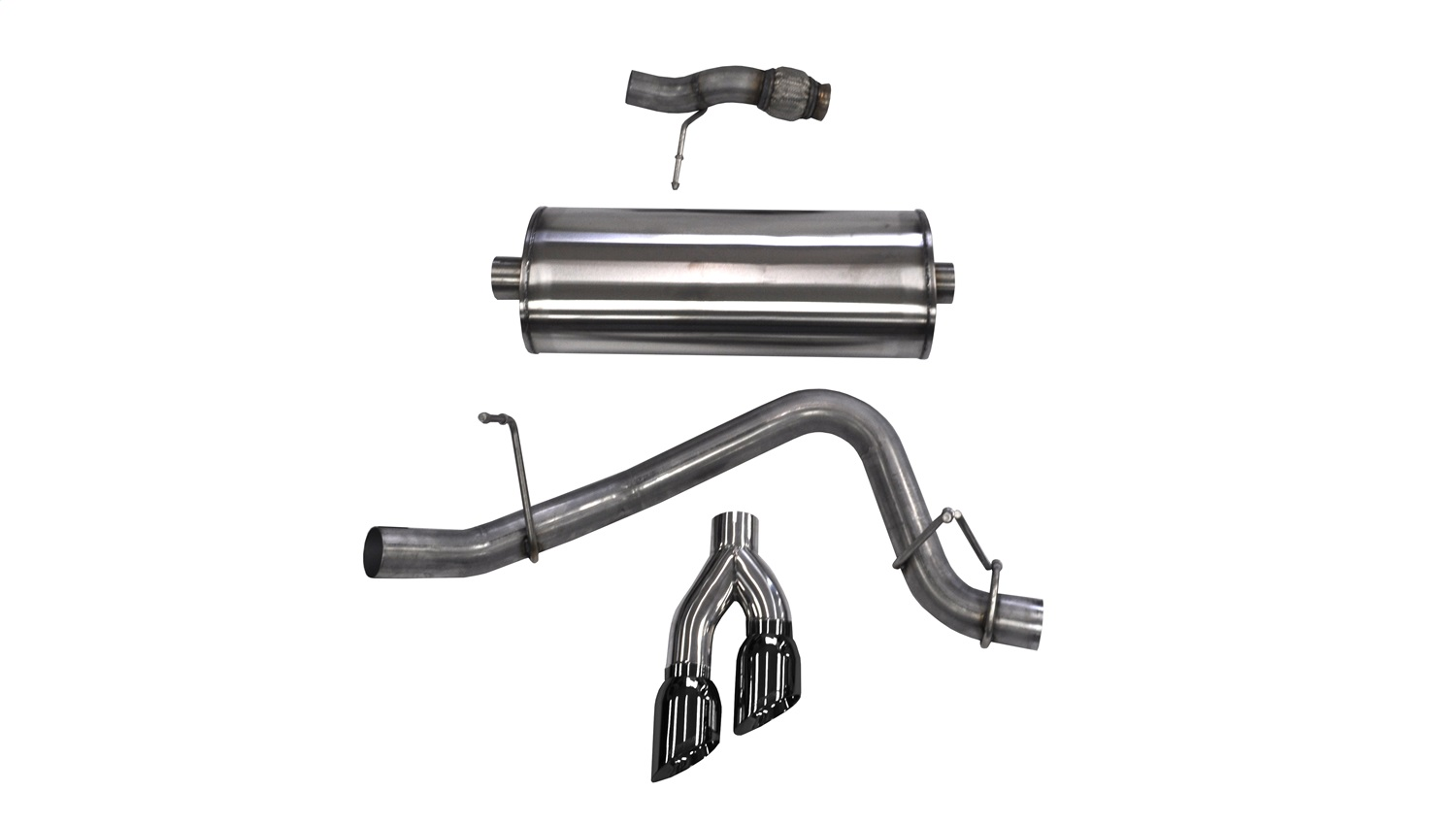 Corsa Performance Blk Sport Cat Back Exhaust System