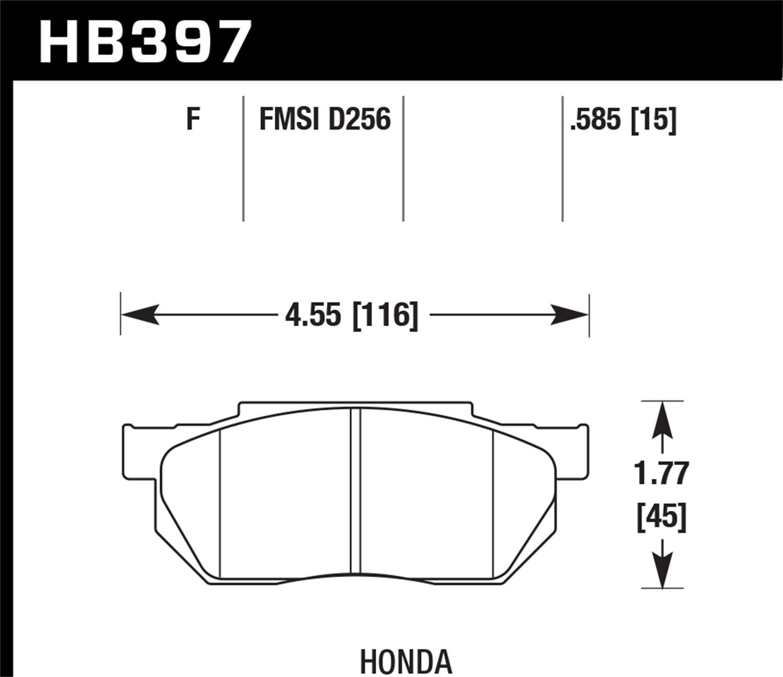 Hawk Performance Hb397f 585 Disc Brake Pad