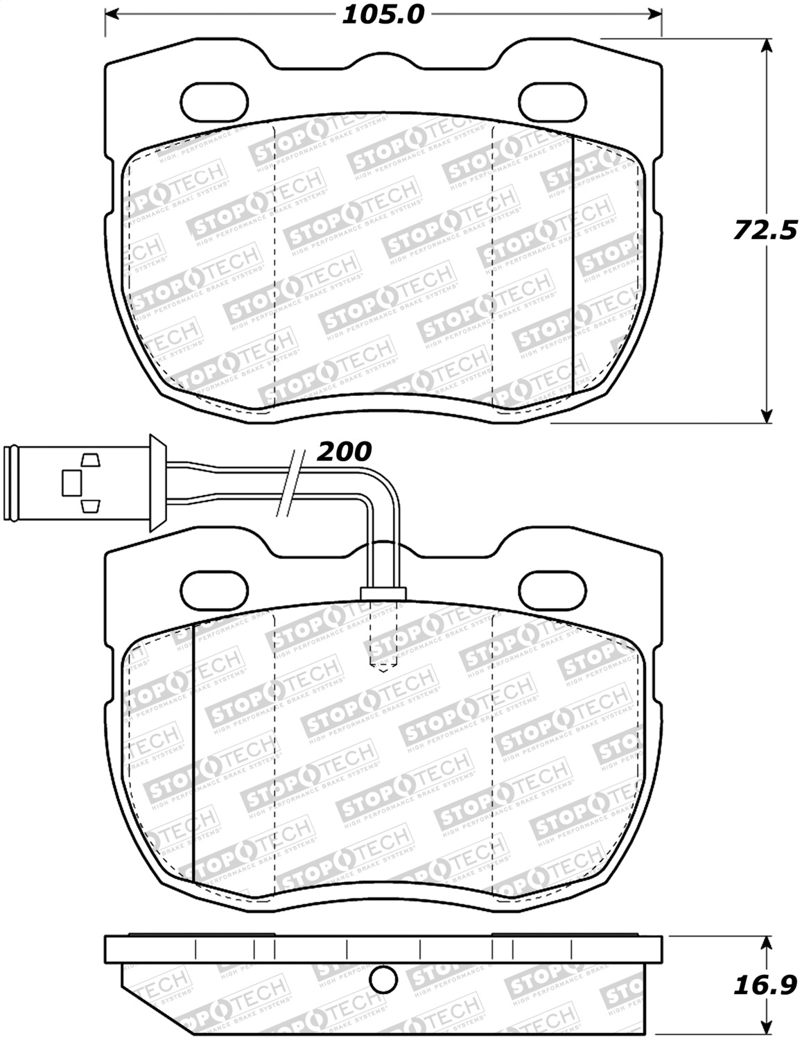 Stoptech 308 Stoptech Street Brake Pads Fits 90 95