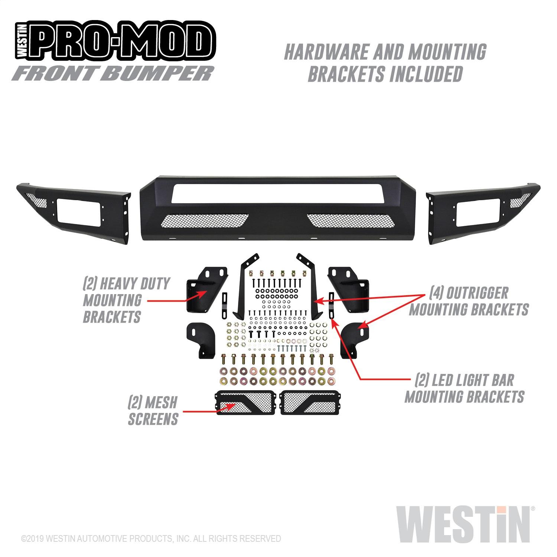 Westin 58 Pro Mod Front Bumper Fits F 250 Super Duty