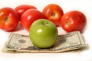 basic cooking tips green and red apples and cash