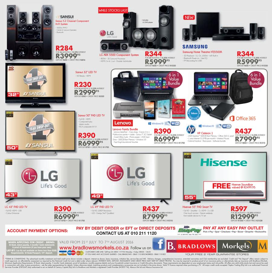 Bradlows Amp Morkels Catalogue 21 July 7 August 2016