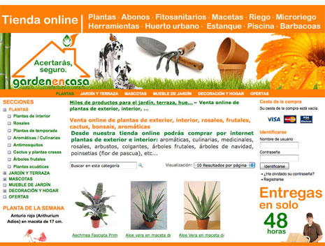 Ventas de plantas online en www.gardenencasa.es
