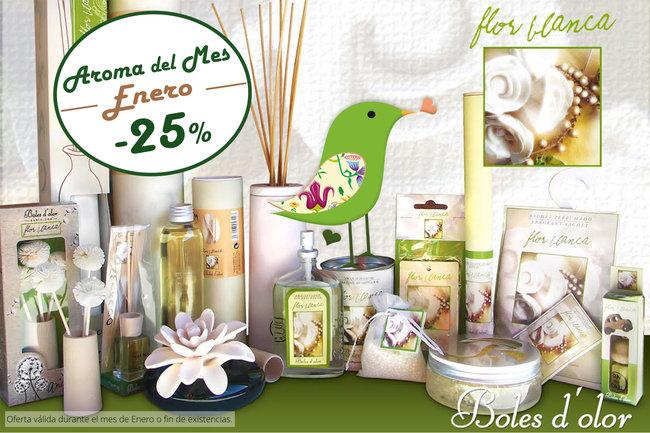 """""""Flor Blanca"""": aroma del mes de Boles d'Olor con 25% de descuento."""