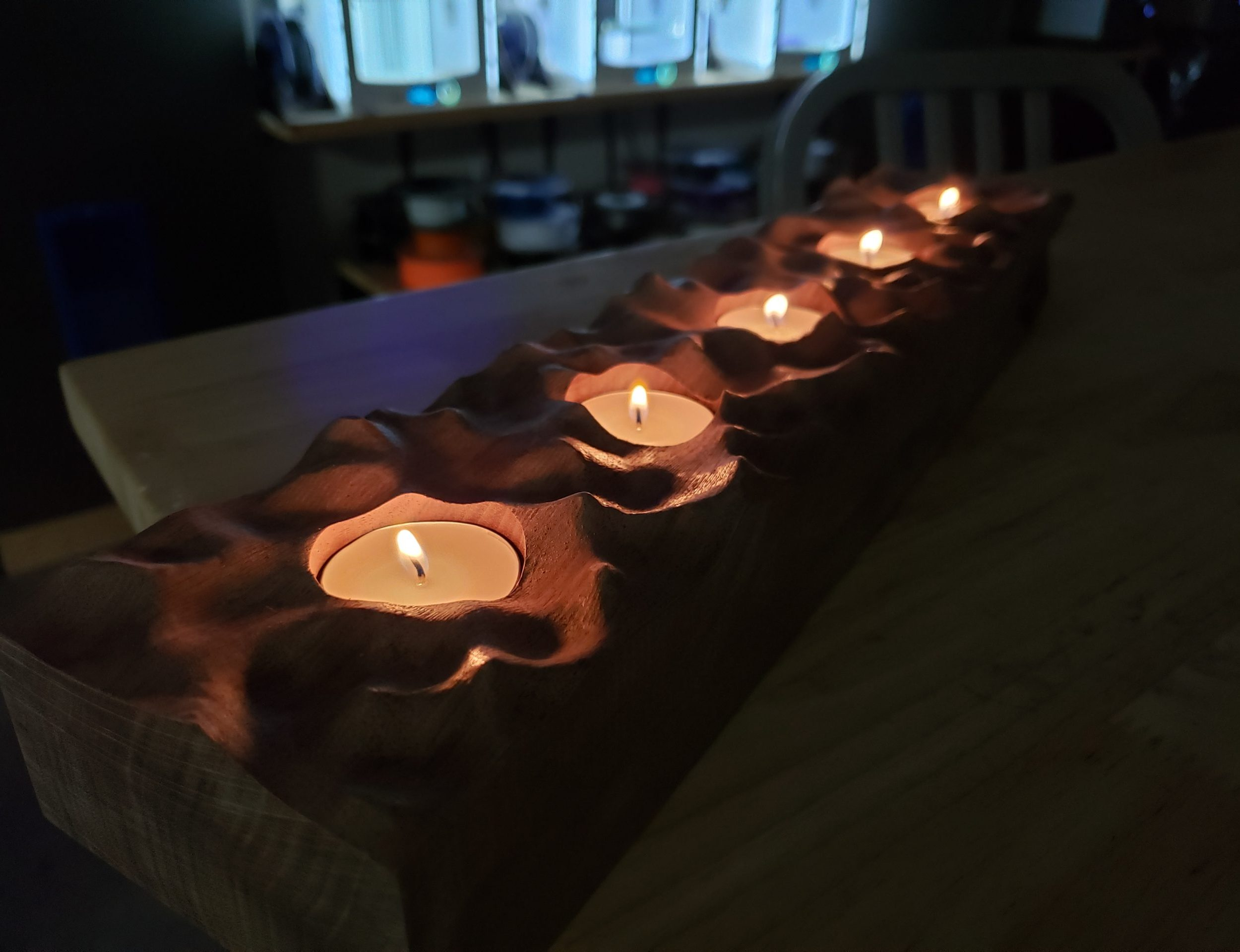 Flowing Waves Tealight Holder Centerpiece