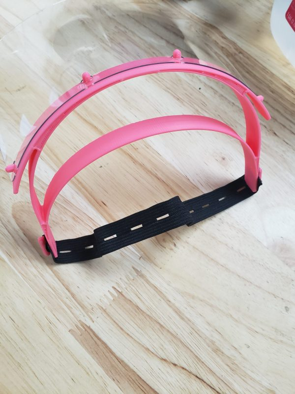 Head band of clear face shield.
