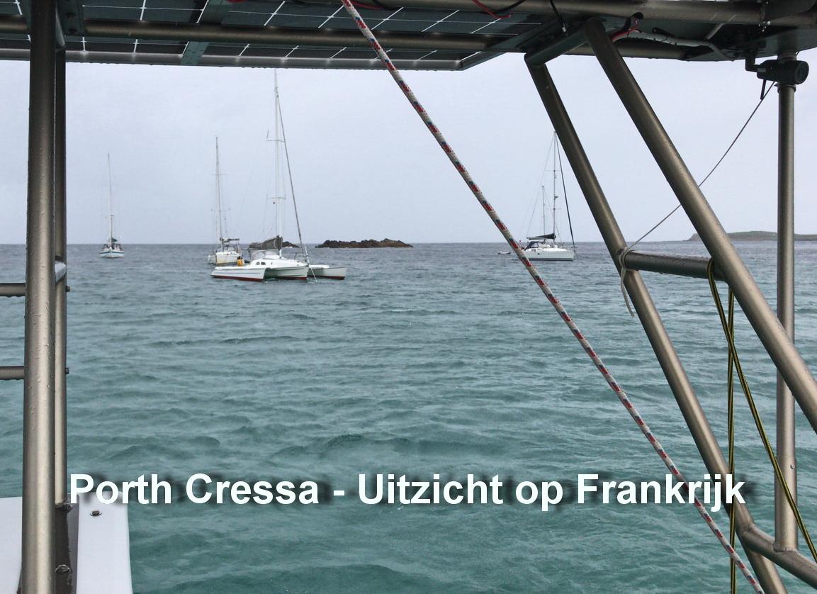 Port Cressa - Voor anker