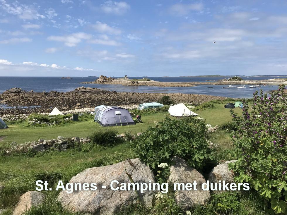 St.Agnes - Camping met veel duikers