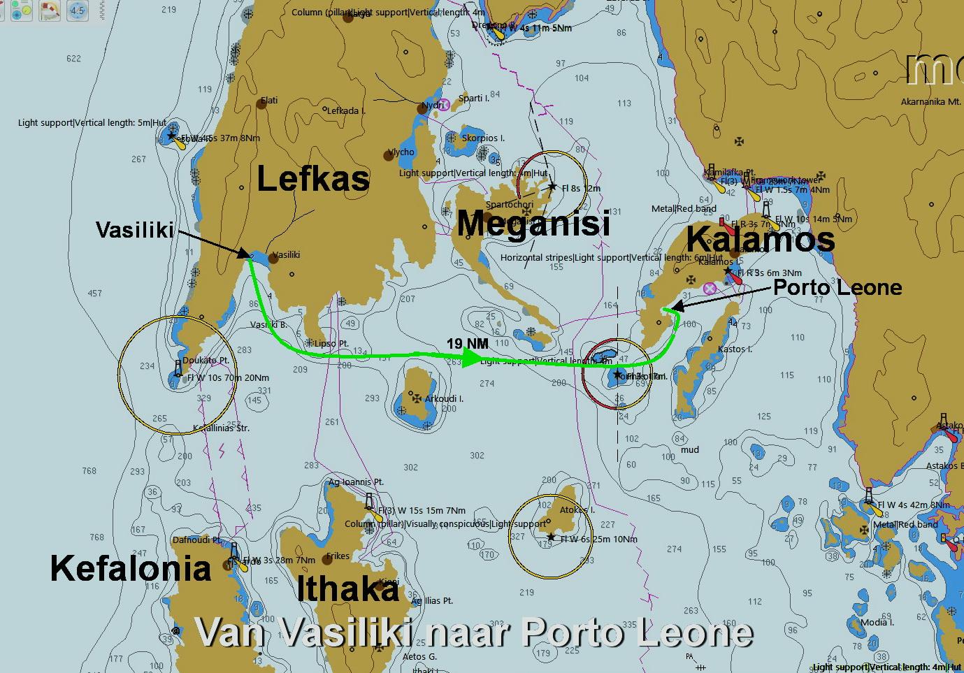 Van Vasiliki naar Porto Leone
