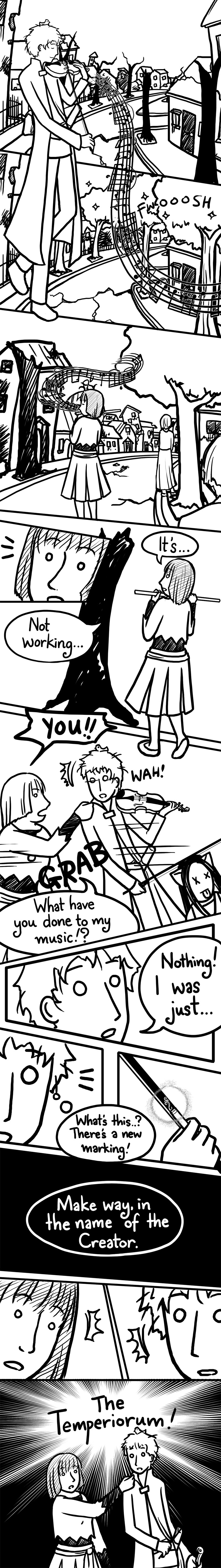 Kieran's smug little violin-playing look... :)