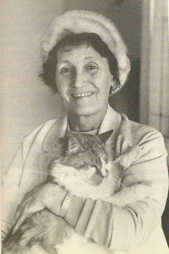 John Lennon's Aunt Mimi and their cat Tim