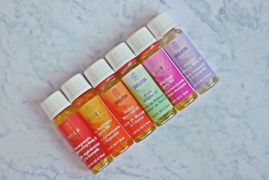 weleda body oils starter kit