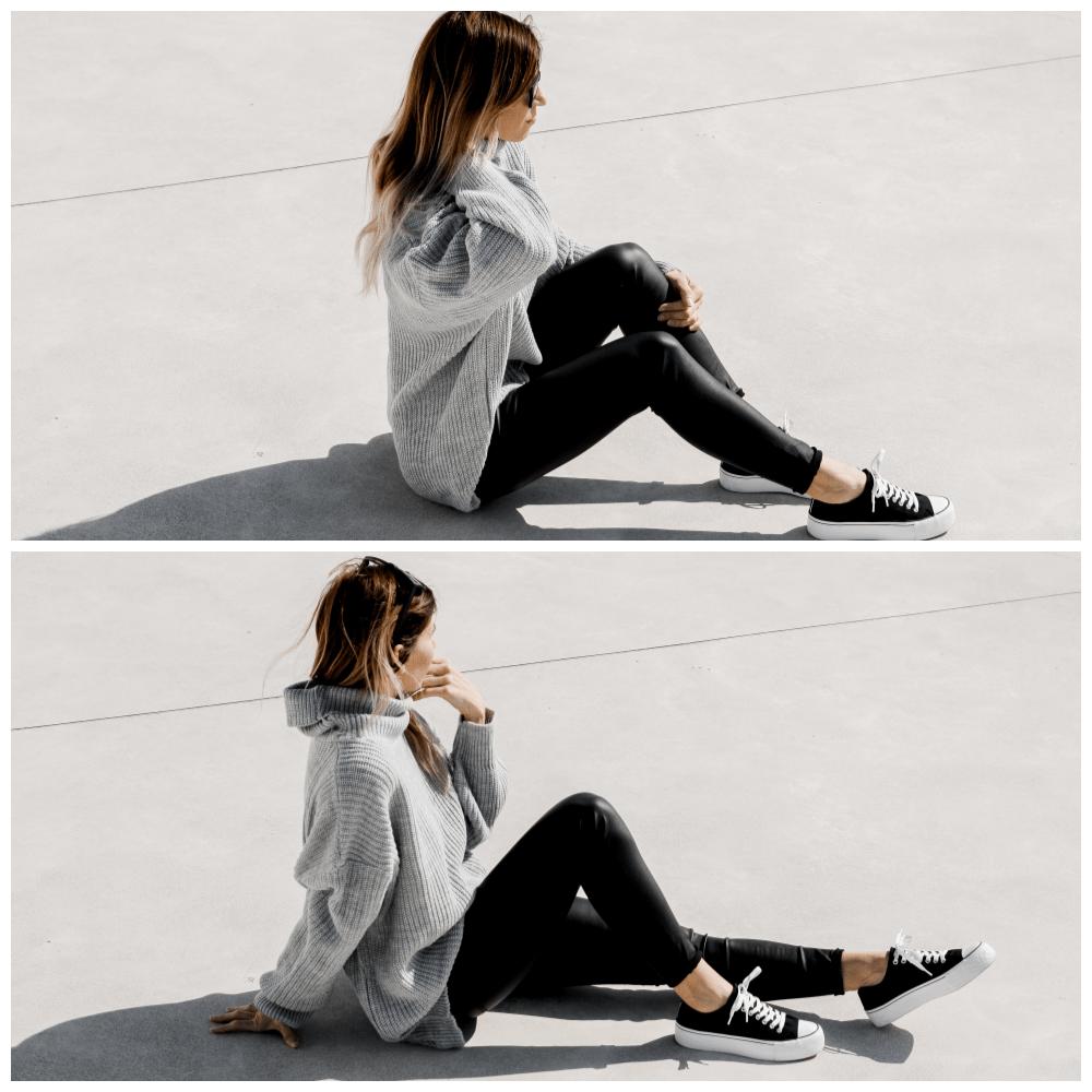 grey jumper femme luxe