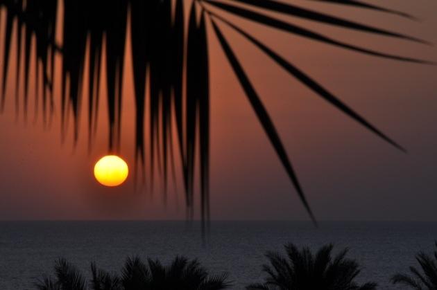 Den sidste solopgang fra ferien i Egypten