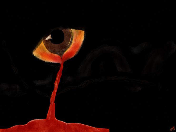 Blødende øje