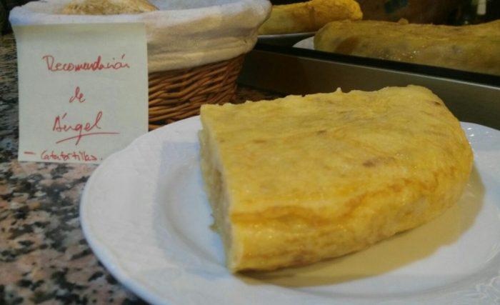 Pincho de tortilla en Bar Lucía