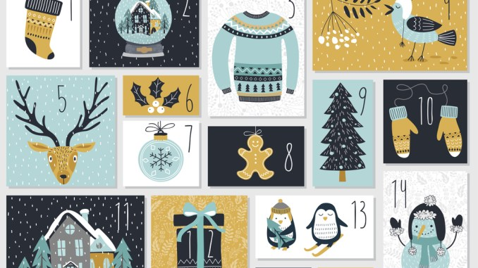 Christmas advent calendar, image