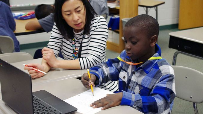 St Stephens Elementary Teacher and Student | John Bailey Photo Image