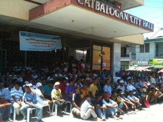 Beneficiaries from various barangays and transport/farm groups