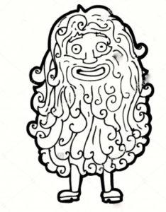 hairy human
